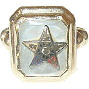 Vintage 10K Eastern Star Ring