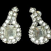 Vintage Earrings Drop Rhinestones