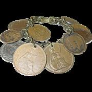 Vintage 12 Coin Bracelet England