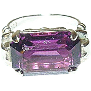 Vintage Sterling Faux Amethyst Ring