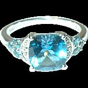 Vintage Sterling Ring Openwork Faux Stones