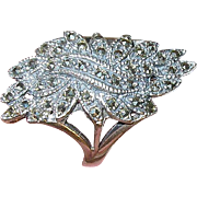 Vintage Sterling Marcasite Ring