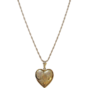 Vintage Heart Locket/Necklace Sterling/Gold Filled
