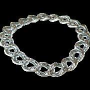 Edwardian Sterling Link Bracelet Chased Design