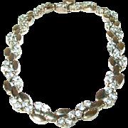 Vintage Sterling/Vermeil Link Bracelet Faux Diamonds