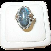 Vintage Georg Jensen Labradorite Ring #16