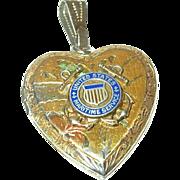 Vintage Sterling Locket Sweetheart Jewelry Heart Shaped