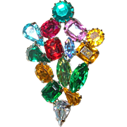 Vintage Miriam Haskell Brooch Christmas Tree Holiday