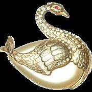 Vintage Hattie Carnegie Swan Brooch  Rare