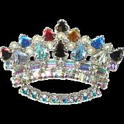 Vintage Crown Brooch by B. David Co