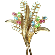 Vintage Brooch by ART Lily of the Valley