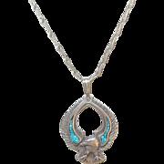 Vintage Sterling Eagle Pendant/Necklace