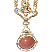 Victorian Lg Watch Fob Chain Rolled Gold