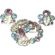 Vintage Weiss Aurora Borealis Brooch/Earring Set