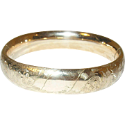 Gold Filled Hinged Bangle Chased Design