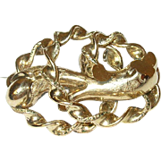 Victorian Gold Filled Brooch 3 Dimensional