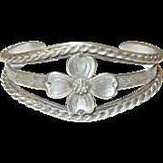 Vintage Sterling Cuff Bracelet by Fish