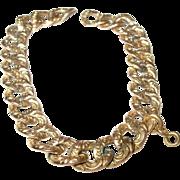 Victorian Rolled Gold Link Bracelet
