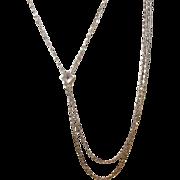 Edwardian 10K Slide Gold Filled Watch Necklace