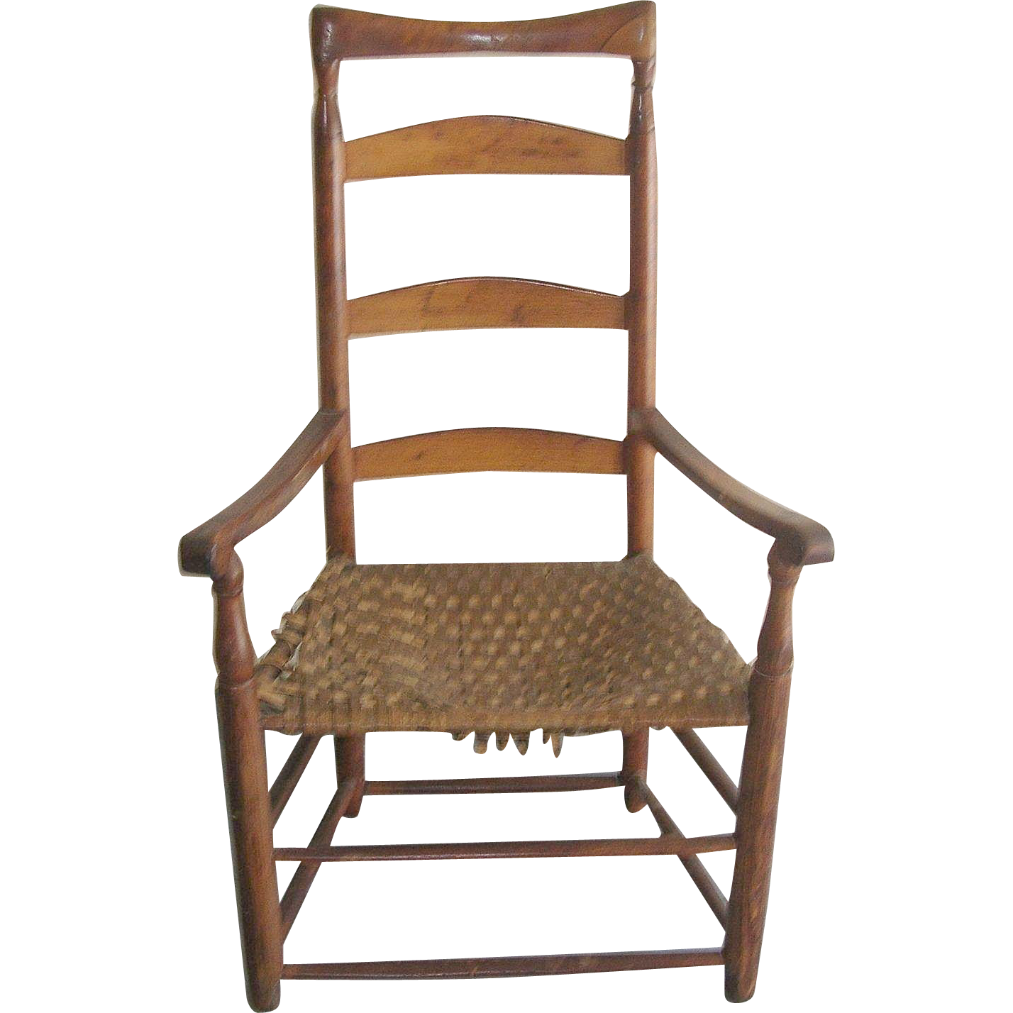 Antique ladder back chair 1790 39 s robbia antiques ruby lane Ladder back chairs