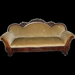Antique Sofa 1850's Veneered
