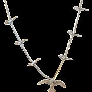 Vintage Sterling Fetish Necklace Birds