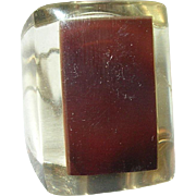 Vintage Lucite Ring Modernist Design