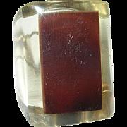 Vintage Lucite Ring Modernist Design