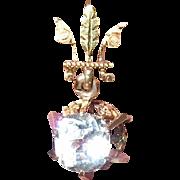 Antique Earrings 18K Rose Gold Paste Stone Drops 1870's