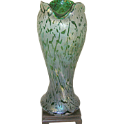 "Vintage Loetz Art Glass Vase 13 1/4"" Iridescent"