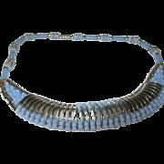 Vintage Jakob Bengel Necklace Glass Chrome