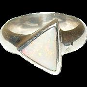 Vintage Ring Modernist Design Opal