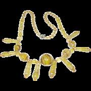 Vintage Czechoslovakian Glass Bead Necklace