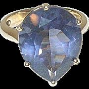 Vintage Sterling/Vermeil Faux Lavender Stone