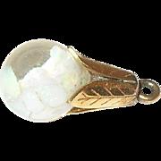 Vintage 14K Floating Opal Pendant