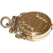 Edwardian Gold Filled Fob/Locket