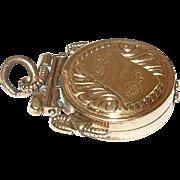 Edwardian Gold Filled Fob/Locket