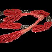Vintage Coral Bead Necklace