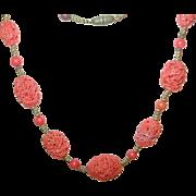 Vintage Necklace  Czechoslovakian Art Glass Beads 1930's