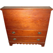 Antique Hepplewhite Blanket Chest 2 Drawer 1820