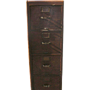 Antique Oak File Cabinet 1903 by Library Bureau