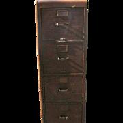 Antique Oak File Cabinet 1903 by Library Bureau