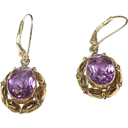 Edwardian 14K Amethyst Drop Earrings
