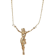 Vintage 18K Gold Pendant Necklace