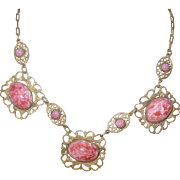 Vintage Czechoslovakian Link Necklace