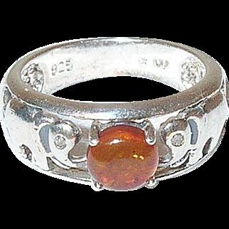 Vintage Sterling Ring Elephant Design