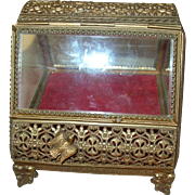 Vintage Jewelry Casket Beveled Glass 1880's