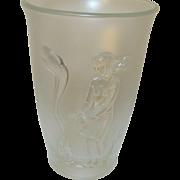 Vintage Fenton Fall Winter Vase 1987