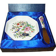 Vintage Porcelain Cheese Set by Aynsley Boxed