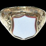 Edwardian 10K  Shield Ring